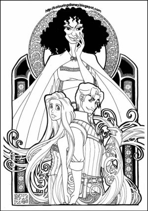 Free Rapunzel Coloring Pages to Print Disney Princess   t4b678