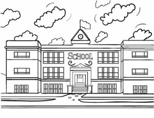 Free School Coloring Pages to Print   rk86j