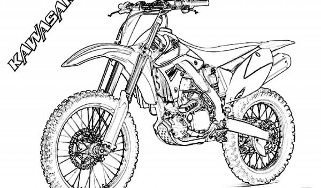 Get This Free Simple Dirt Bike Coloring Pages for Children ...