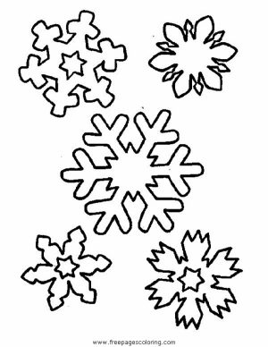 Free Snowflake Coloring Pages to Print Out   31748
