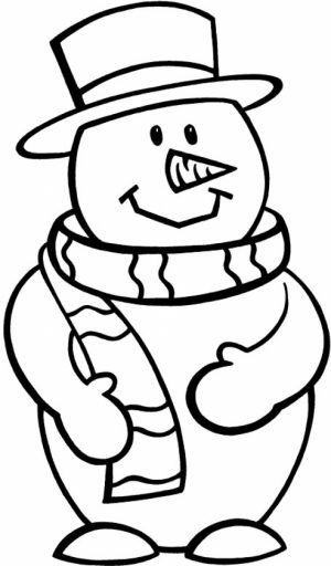 Free Snowman Coloring Pages to Print   92377