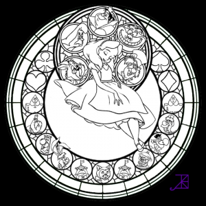 Free Stained Glass Coloring Pages   42893