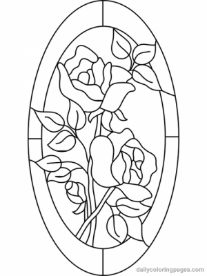 Free Stained Glass Coloring Pages   47124
