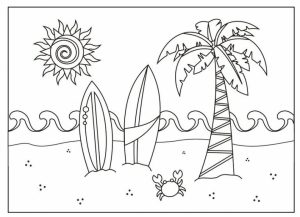 Free Summer Coloring Pages Online Printable   81833