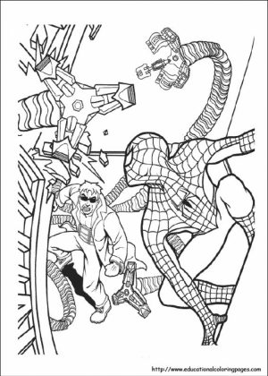 Free Superhero Coloring Pages of Spiderman for Kids   59320