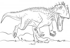 Free T Rex Coloring Pages   92377