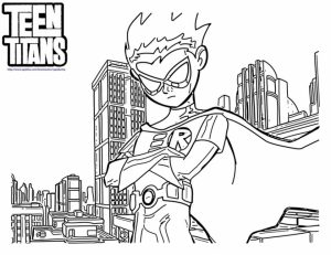 Free Teen Titans Coloring Pages for Toddlers   vnSpN