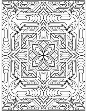 Free Tessellation Coloring Pages Adult Printable   36213