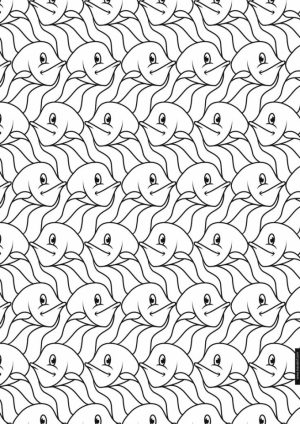 Free Tessellation Coloring Pages Adult Printable   77127