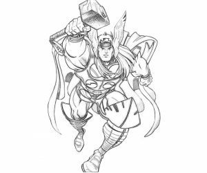 Free Thor Coloring Pages   46159