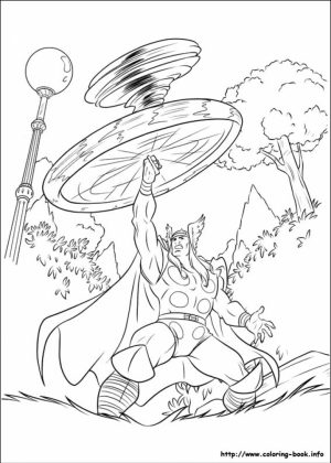 Free Thor Coloring Pages to Print   16629