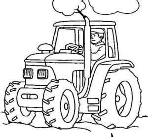 Free Tractor Coloring Pages   07599
