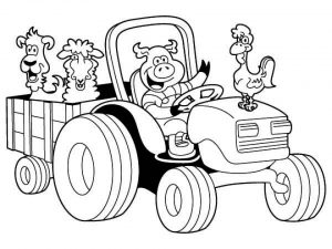 Free Tractor Coloring Pages to Print   00029