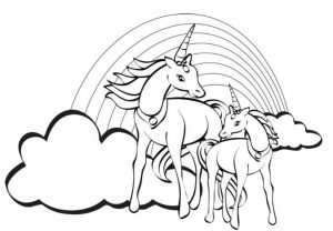 Free Unicorn Coloring Pages   92377