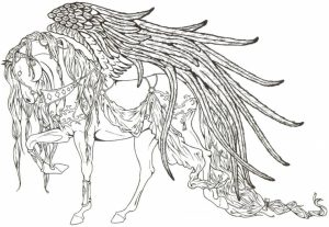 Free Unicorn Coloring Pages for Adults   VR883