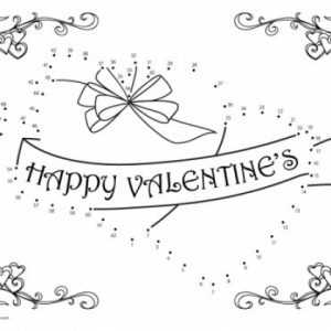 Free Valentine Dot to Dot Coloring Pages   VQKC7