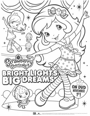 Fun Strawberry Shortcake Coloring Pages for Girls   27401