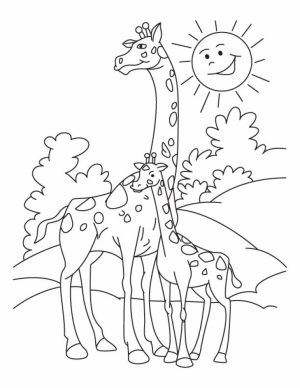 Giraffe Coloring Pages Printable   64195