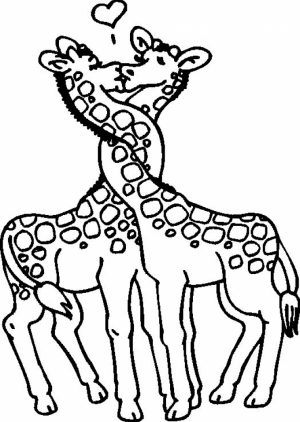 Giraffe Coloring Pages Printable   95417