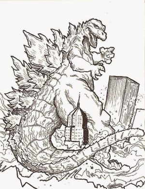 Godzilla Coloring Pages Free to Print   JU7zm