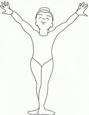 Gymnastics Coloring Pages Free Printable   fyo101