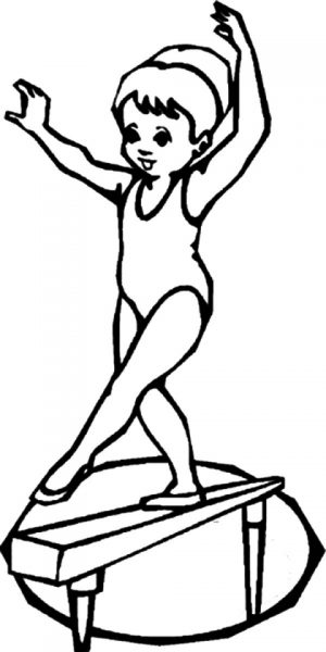 Gymnastics Coloring Pages Free Printable   u043e