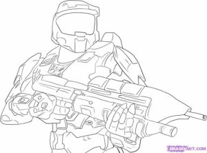 Halo Coloring Pages for Kids   qau69