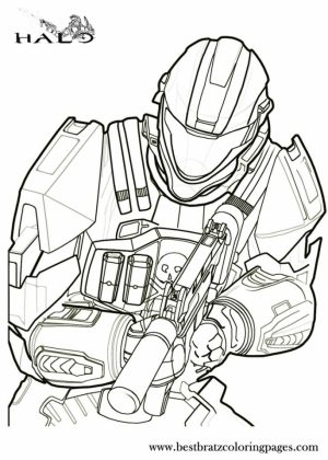 Halo Coloring Pages Free   671fg
