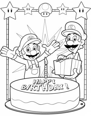 Happy Birthday Coloring Pages Free Printable   10371