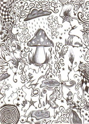 Hard Trippy Coloring Pages Free for Adults   XJ5S8