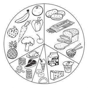 healthy food coloring pages – 7cb4a