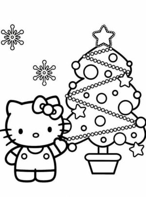 hello kitty coloring pages christmas   n47cg