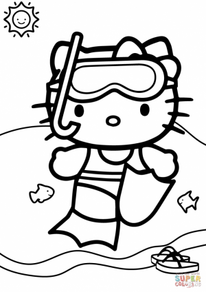Hello Kitty Coloring Pages Free to Print   73nf7