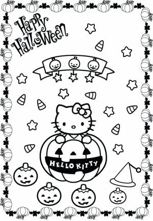 hello kitty coloring pages halloween   96hgw