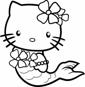 hello kitty coloring pages mermaid   0vn3b