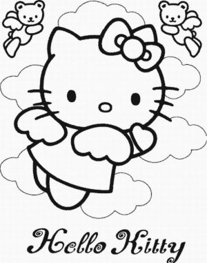 Hello Kitty Coloring Pages Printable   tll47