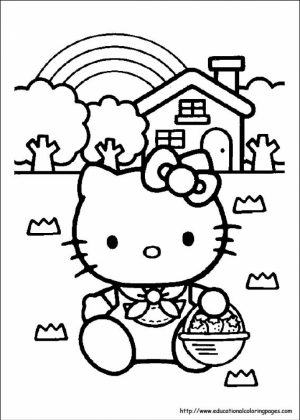 Hello Kitty Coloring Pages to Print   7cn4m