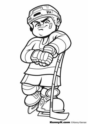 Hockey Coloring Pages Free Printable   51582