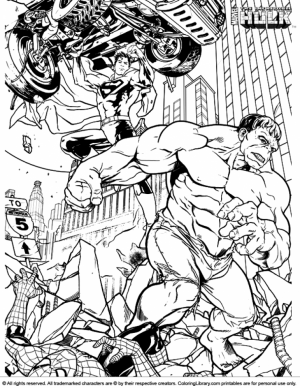Hulk Coloring Pages Kids Printable   47144