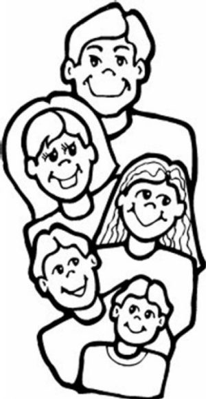 Image of Family Coloring Pages to Print for Kids   uan64