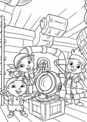 Jake and The Neverland Pirates Coloring Pages Printable   ov6pn