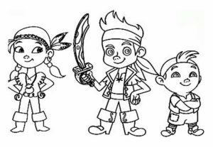 Jake and The Neverland Pirates Coloring Pages Printable   u46x3