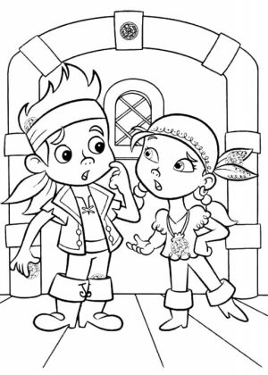 Jake and The Neverland Pirates Coloring Pages Printable   xyr3n