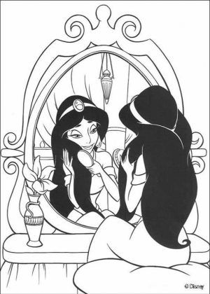 Jasmine Coloring Pages for Toddlers   74179