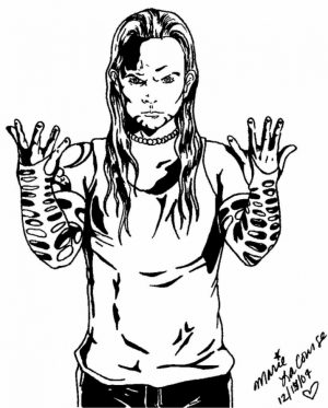 Jeff Hardy Coloring Pages Printable   3VCL9
