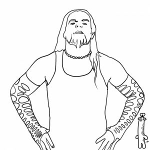 Jeff Hardy Coloring Pages Printable   7fvs2