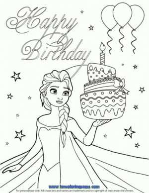 Kids Coloring Pages Happy Birthday Printable   27810