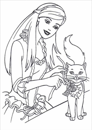 Kids' Printable Barbie Coloring Pages Free Online   p2s2s