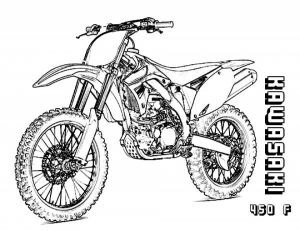 Kids' Printable Dirt Bike Coloring Pages   x4lk2