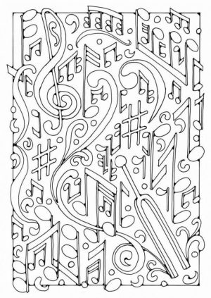 Kids Printable Fun Coloring Pages of Music   68361